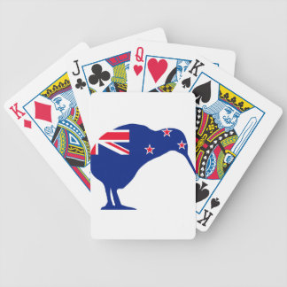 New Zealand Flag With Kiwi SIlhouette Bicycle Playing Cards