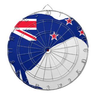 New Zealand Flag With Kiwi SIlhouette Dartboard