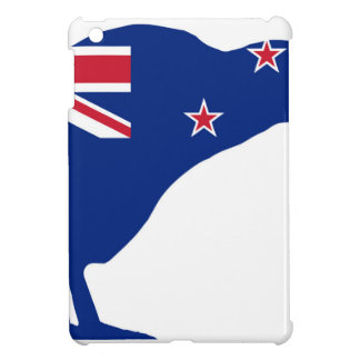 New Zealand Flag With Kiwi SIlhouette iPad Mini Covers