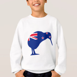 New Zealand Flag With Kiwi SIlhouette Sweatshirt