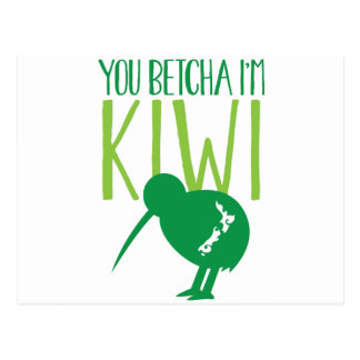 NEW ZEALAND FUNNY You BETCHYA I'm KIWI bird Postcard