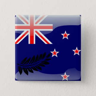 New Zealand glossy flag 2 Inch Square Button