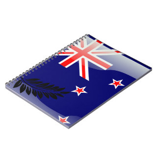 New Zealand glossy flag Notebook