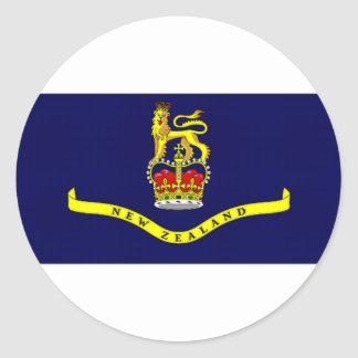 New Zealand Governor General Flag Classic Round Sticker