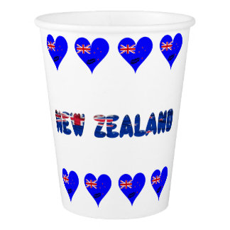 New Zealand heart flag Paper Cup