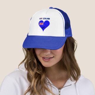 New Zealand heart flag Trucker Hat