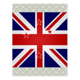 New Zealand High quality Flag Postcard