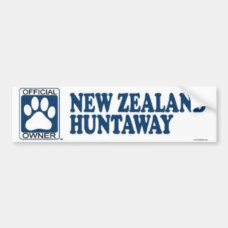 New Zealand Huntaway Blue Bumper Sticker