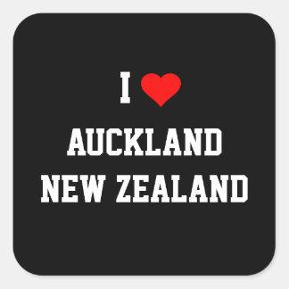 NEW ZEALAND: I Love Auckland, New Zealand Square Sticker