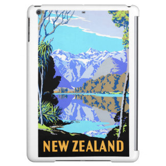 New Zealand Lake Matheson Vintage Travel Poster iPad Air Cases