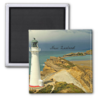 New Zealand Landscape with Lighthouse Magnet