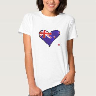 New Zealand love heart flag gifts T Shirt