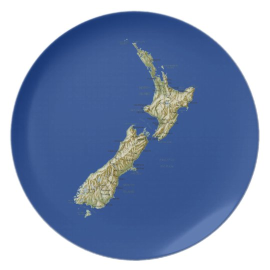 New Zealand Map Plate
