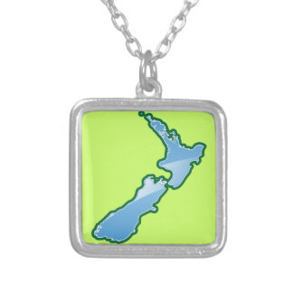 New Zealand MAP Silver Plated Necklace
