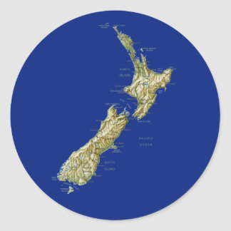 New Zealand Map Sticker