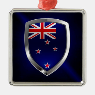 New Zealand Metallic Emblem Metal Ornament