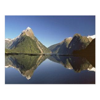 New Zealand, Mitre Peak & Milford Sound, Postcard