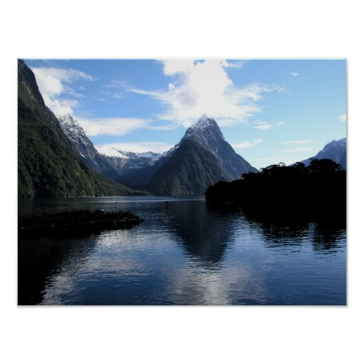 New Zealand Mountain Poster