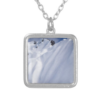 New Zealand Mountains, Aerial View.JPG Silver Plated Necklace