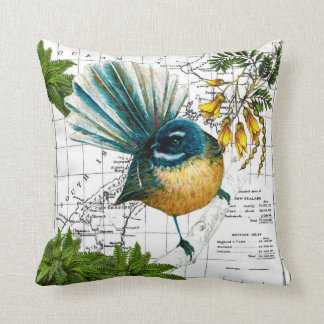 New Zealand Native Fantail Pillow