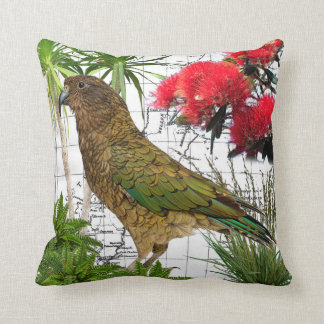 New Zealand Native Kea Pillow