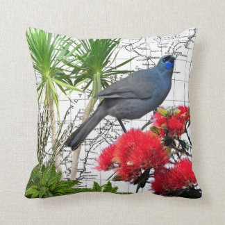 New Zealand Native Kokako Pillow