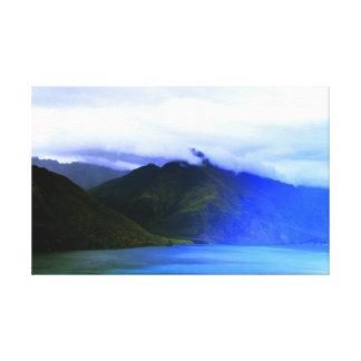 New Zealand Nature Mountains Landscape Canvas Deco