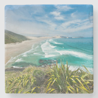 New Zealand, North Island, Cape Reinga 2 Stone Coaster