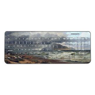 New Zealand Ocean Waves Beach Wireless Keyboard