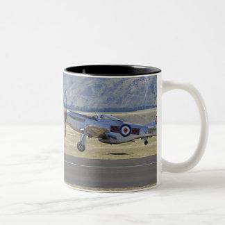New Zealand, Otago, Wanaka, Warbirds Over 4 Two-Tone Coffee Mug