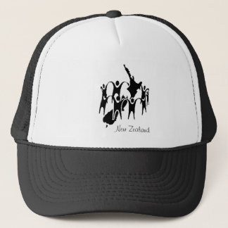 New Zealand People Circle Trucker Hat
