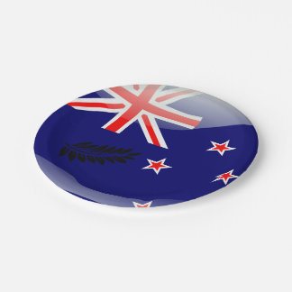 New Zealand polished flag 7 Inch Paper Plate