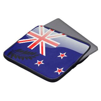 New Zealand polished flag Laptop Sleeve