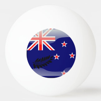 New Zealand polished flag Ping Pong Ball