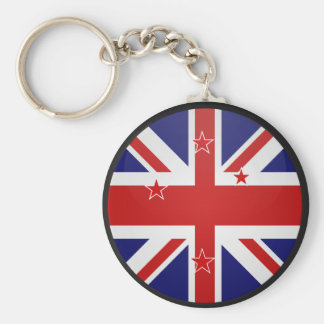 New Zealand quality Flag Circle Keychain