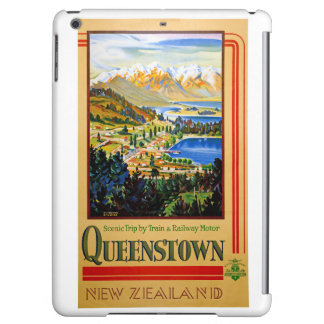 New Zealand Queenstown Restored Vintage Poster iPad Air Cover
