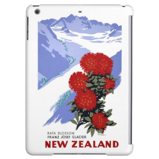 New Zealand Rata Blossom Vintage Travel Poster Cover For iPad Air