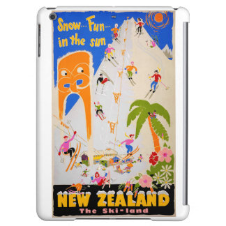 New Zealand Snow fun in the sun Vintage Poster iPad Air Cover