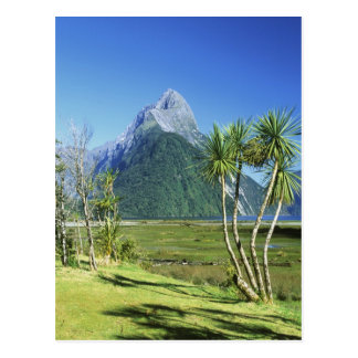 New Zealand, South Island,  Mitre Peak, Postcard