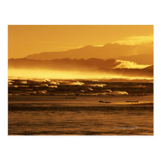 New Zealand, South Island, ocean waves and Postcard