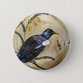 New Zealand Tui 2 Inch Round Button
