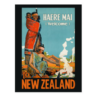 New Zealand vintage travel postcard