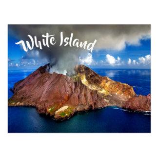 New Zealand White Island Volcano Postcard