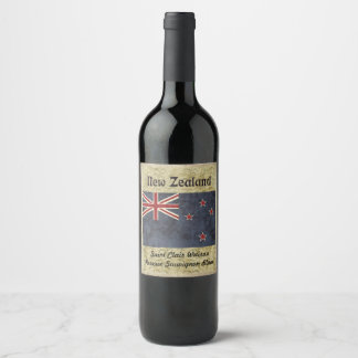 New Zealand Wine Label