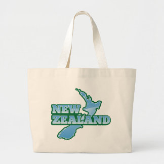 NEW ZEALAND with a map Large Tote Bag
