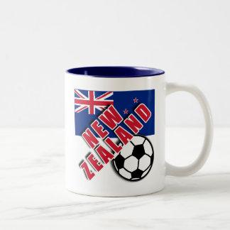 NEW ZEALAND World Soccer Fan Tshirts Two-Tone Coffee Mug