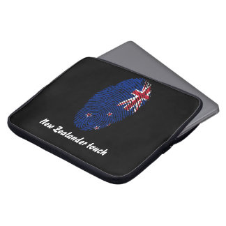 New Zealander touch fingerprint flag Laptop Sleeve