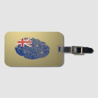 New Zealander touch fingerprint flag Luggage Tag