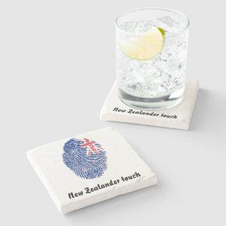 New Zealander touch fingerprint flag Stone Coaster