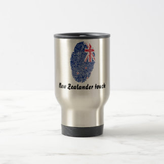 New Zealander touch fingerprint flag Travel Mug
